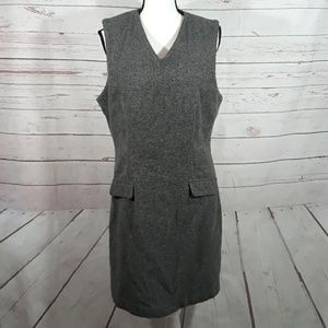 Wool blend sleeveless jumper dress size 12 gray